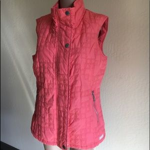 Blue Willi's coral quilted high neck cotton vest